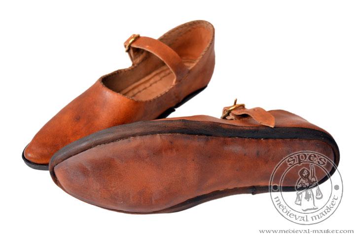 82f9b36743fd79 Niskie buty damskie ręcznie szyte. Medieval Market, Hand sewn low profile  women\'