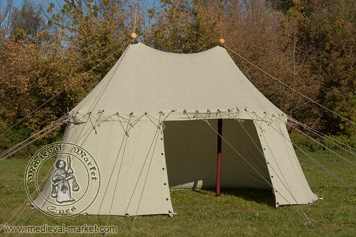 Category Tents u003e linen tents & Pavilion with two poles (6x3m) - linen. - Clothing - Medieval ...
