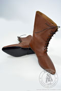 High lace-up medieval boots with a shiny sole - stock - Medieval Market, High lace-up medieval boots with a shiny sole - stock