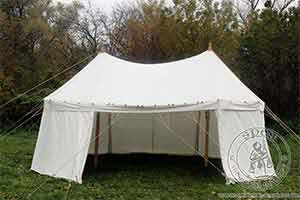 Cotton Medieval Tents - Medieval Market, Umbrella tent with two poles 7x4
