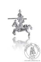 - Medieval Market, badges knight on horseback