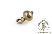 - Medieval Market, brass button with ball
