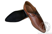 Medieval men's under-the-ankle shoes - stock - Medieval Market, Medieval shoes