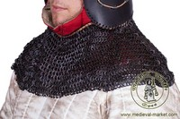 Aventail (round rivets). Medieval Market, Chainmail aventail