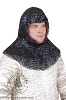 Chainmail Coif (triangular rivets). Medieval Market, Chainmail coif