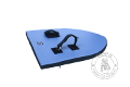 Foam heater shield - big - Medieval Market, foam big heater shield blue