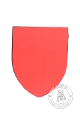 Foam heater shield - big - Medieval Market, foam big heater shield red