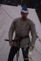 Pourpoint of Charles de Blois - stock. Medieval Market, gambeson type 13