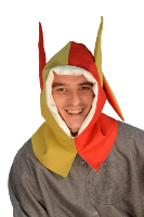 - Medieval Market, jester hood with donkey ears