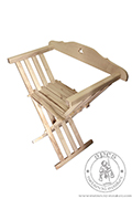 Folding X chair with a backrest - Medieval Market, Chair