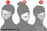Disposable face masks (5 items) - Medieval Market, Face masks - a set of 5 items.  sizes