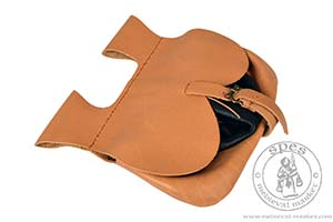 akcesoria róşne - Medieval Market,  Medieval leather pouch with a pocket