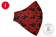 Patterned linen face mask - Medieval Market, Patterned linen face mask - color I
