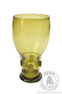 Netherlands Römer glass. Medieval Market, is made from olive green glass
