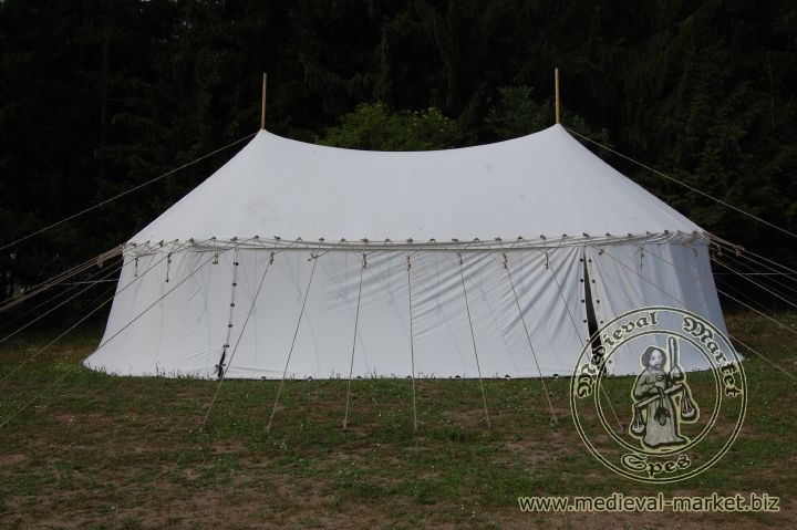Cotton Medieval Tents - Medieval Market, pavilion with two poles type 4