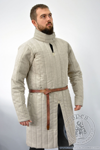 Nonstandard gambeson from Morgan Bible - stock. Medieval Market,