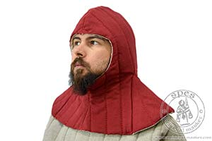 Arming garments - Medieval Market, A quilted hood