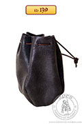 Small leather pouch, smaller - stock - Medieval Market, Small leather pouch