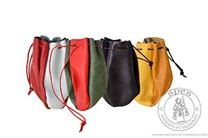 Small leather pouch, smaller - stock. Medieval Market, Small leather pouch
