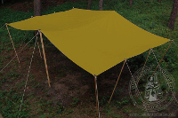 Tents rent - Medieval Market, shed cotton yellow