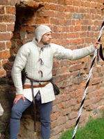 A simple medieval gambeson (type 1) - stock. Medieval Market, Simple gambeson type1