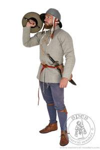 Simple medieval gambeson of Saint-Denis. Medieval Market, Man in historical aketon