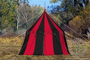 In stock - Medieval Market, Pavilion with one pole (phi 4 m) cotton 2 colors