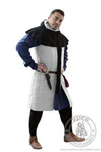 Arming garments - Medieval Market, Man in medieval sleeveless gambeson