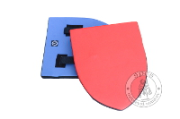 Treningowe - Medieval Market, small foam heater shield blue red