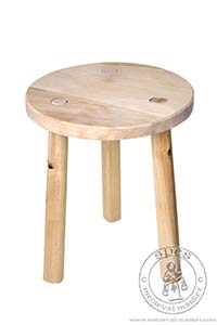 New Products - Medieval Market, Medieval stool. Historical furniture.