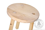 Medieval stool - Medieval Market, Medieval stool. Wooden historical stool