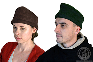 Tyrolean medieval felt hat. Medieval Market, Man and woman in felted hats