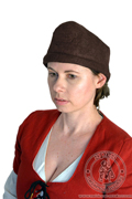 Tyrolean medieval felt hat - Medieval Market, Woman in medieval headdress