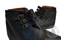 Medieval leather boots with 3 straps - Medieval Market, Over-the-ankle shoes 4