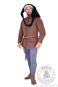 Woolen purpoint without quilting. Medieval Market, Medieval gambeson for man