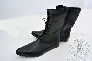 Magazyn - Medieval Market, High lace-up medieval boots with a shiny sole - stock