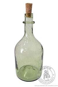 Akcesoria kuchenne - Medieval Market, A simple bottle made from a light green glass