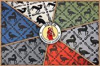 Zr��b to sam - Medieval Market, Printed linen