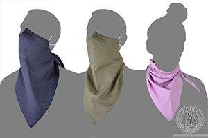 - Medieval Market, Linen kerchief mask