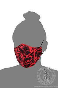 - Medieval Market, Linen face mask - with a pattern