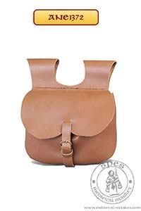 Akcesoria r����ne - Medieval Market, Medieval leather belt pouch